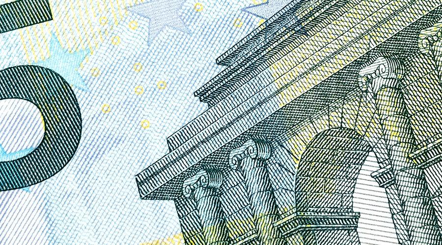 Détails de billet d'euros