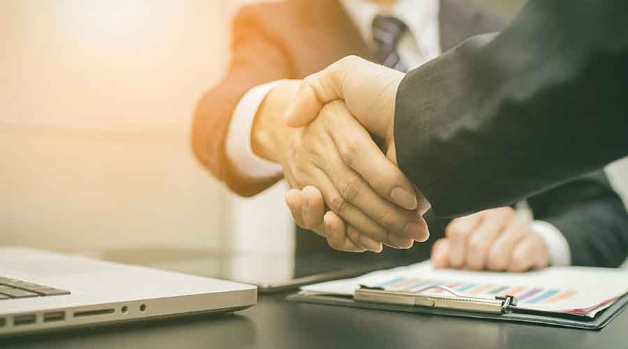 Handshake during a business deal