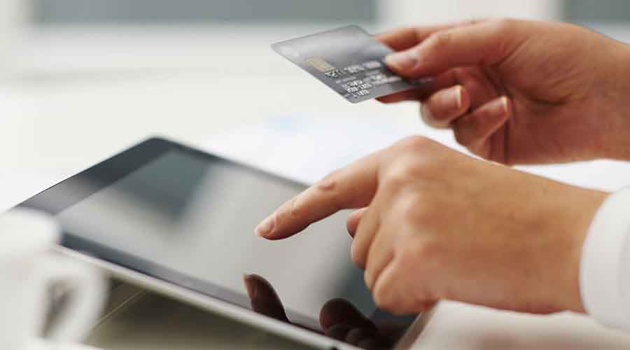 Online purchase by credit card